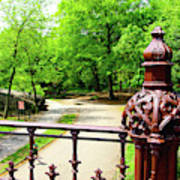 New York's Central Park Winterdale Arch Railing Cast Iron Art Poster