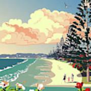New Zealand Orewa Beach Poster