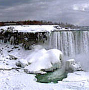 Niagara Falls Late Winter Poster