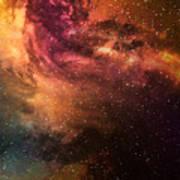 Night Sky With Stars And Nebula Poster