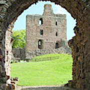 Norham Castle And Tower Through The Entrance Gate Poster
