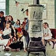 Norman Rockwell Visits A Country School Poster