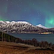 Northern Lights Over Grytoya Poster