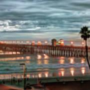 Oceanside Pier At Dusk Poster