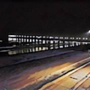 Oceanside Pier At Night  Poster