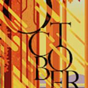 October In Michigan Poster