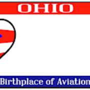 Ohio License Plate Poster