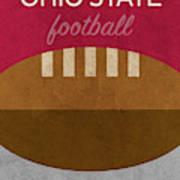 Ohio State Football Minimalist Retro Sports Poster Series 003 Poster