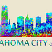 Oklahoma City Watercolor Poster