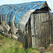 old boat hut at Lindisfarne island Poster