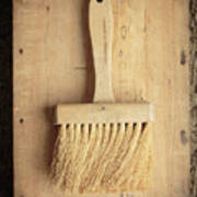 Old Bristle Brush Poster