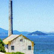 Old Building at Alcatraz Island Prison Poster