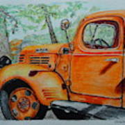 Old Dodge Truck At Patterson Farms Poster