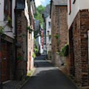 old historic street in Ediger Germany Poster