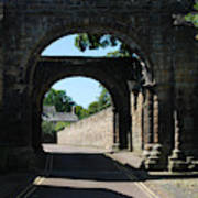 old historic town gate in Hexham Poster