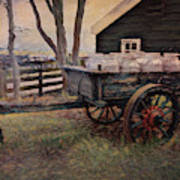 Old Milk Wagon Poster