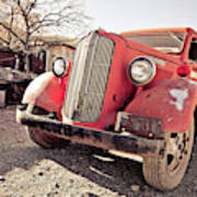 Old Red Truck Jerome Arizona Poster