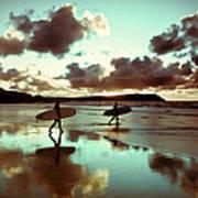 Old Skool Surf Poster