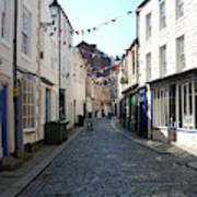 old town street in Hexham Poster