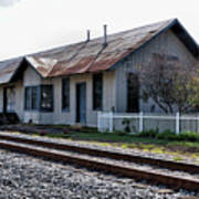 Old Train Depot In Gray, Georgia 1 Poster