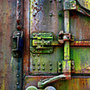 Old Weathered Railroad Boxcar Door Poster
