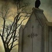 Ominous Clouds Surround Crow Poster
