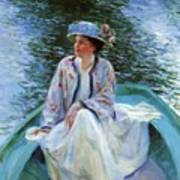 On The River Edge 1910 Poster