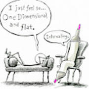 One Dimensional Feeling Poster