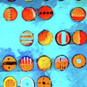 Orange Dots Poster