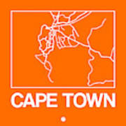 Orange Map Of Cape Town Poster