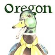 Oregon Duck Poster
