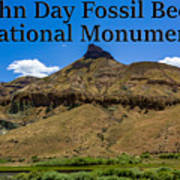 Oregon - John Day Fossil Beds National Monument Sheep Rock 2 Poster