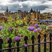 Overlooking The Train Station In Edinburgh Poster