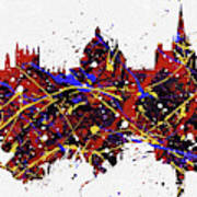Oxford Colorful Skyline Poster
