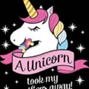 Pacifier Fairy Gift Idea Unicorn Took My Paci Away Poster