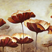 Painting Poppies With Texture Poster