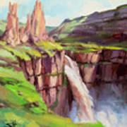 Palouse Falls Rush Poster