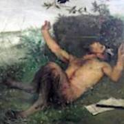 Pan Whistling At A Blackbird 1863 Poster