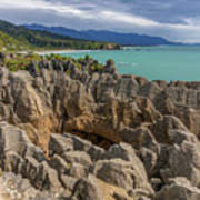 Pancake Rocks - New Zealand Poster