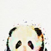 Panda Watercolor Poster