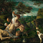 Parable Of The Good Samaritan  Poster