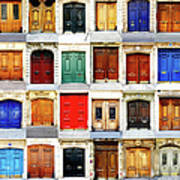 Paris Doors Poster