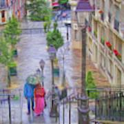 Paris Sous La Pluie Poster