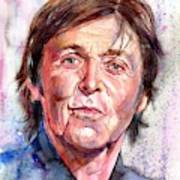Paul McCartney Watercolor Poster