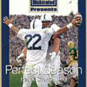 Penn State University Brian Milne, 1994 Ncaa Perfect Season Sports Illustrated Cover Poster