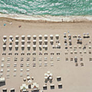 People At Beach, Using Rows Of Beach Poster