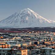Petropavlovsk-kamchatsky Cityscape And Poster