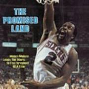 Philadelphia 76ers Moses Malone, 1983 Nba Finals Sports Illustrated Cover Poster