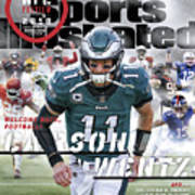 Philadelphia Eagles Carson Wentz, 2018 Nfl Football Preview Sports Illustrated Cover Poster