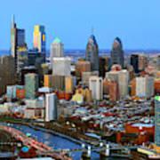 Philadelphia Skyline At Dusk 2018 Poster